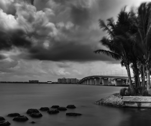 Ringling Bridge in Stormy Weathere