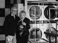 Elderly Couple at Laundry Matt