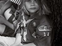 Memorial Parade Girl Scout